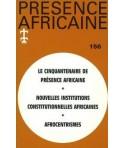 REVUE PRESENCE AFRICAINE N° 156