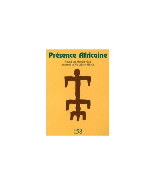 REVUE PRESENCE AFRICAINE N° 158
